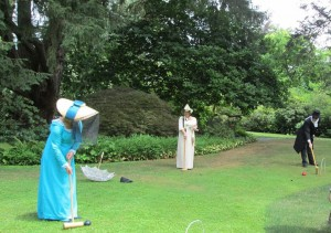 Playing Croquet at Lakewold Gardens