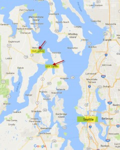 map of Port Ludlow and Port Gamble area