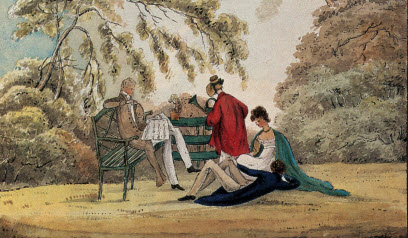 lounging picnic