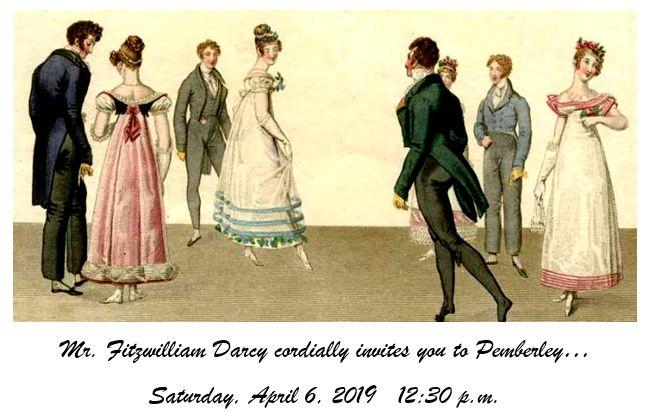 JASNA Pemberley Party April 6 2019
