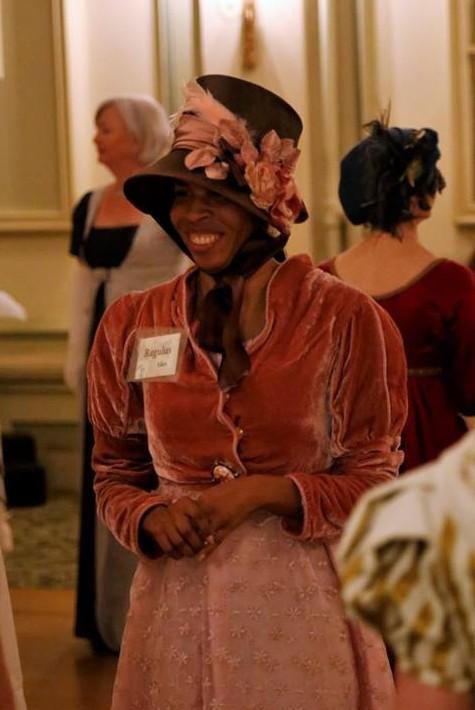 Dr. Regulus Allen enjoying herself at the ball